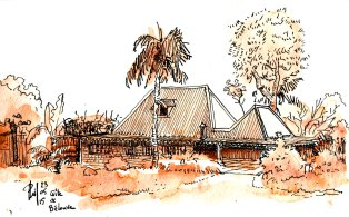 Lodge in a primary forest.