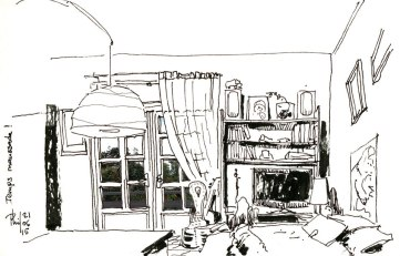 Sketch of Phil's home.