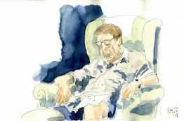 Dad asleep
