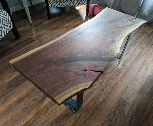 @jeffmackdesigns - looks our coffee tables could be brothers from another mother This was my first attempt at a coffee table.