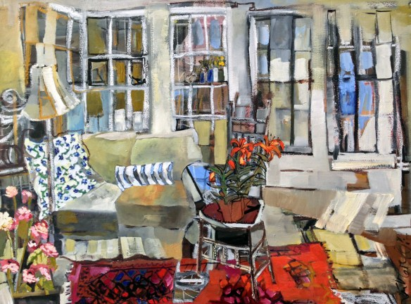 Erin McGee Ferrell  Interior Landscape Paintings. Thomas Moser. Freeport, Maine