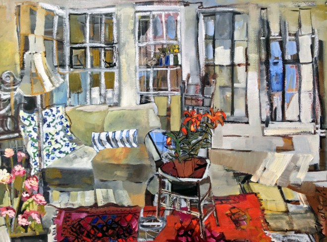 Erin McGee Ferrell  Interior Landscape Paintings. Thomas Moser. Freeport, Maine