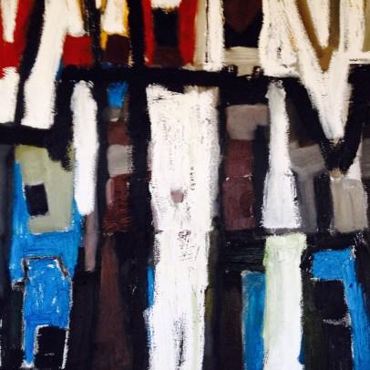 Philadelphia-Artist.com Erin Mcgee Ferrell Abstract Winter Painting. Maine Artist