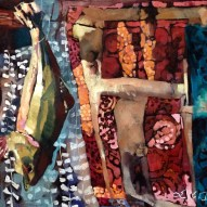 Philadelphia-Artist.com Erin McGee Ferrell Fish 1. Sardines and Taxidermy Fish Painting. Maine Art Studio