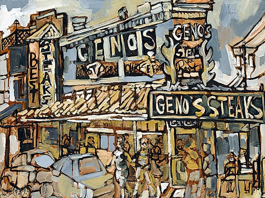 Geno's Cheesesteak. Inliquid Benefifteen Philadelphia