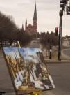 Erin McGee Ferrell. Philadelphia-Artist.com Victor Salvo Photographer. Outdoor Painting in March. Maine