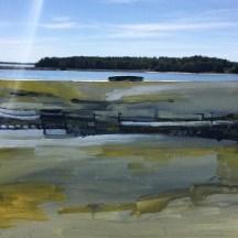 Erin McGee Ferrell paints Martin's Point Bridge Falmouth, Maine