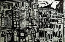 Portland, Maine Urban Renderings. Erin McGee Ferrell. Urban Architectural Artist, Philadelphia-Artist.com, captures Old Port. Portland Art Gallery, Maine