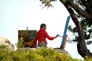 Photo by Martha Agan. Erin McGee Ferrell. Cape Elizabeth Wet Paint Maine. www.Philadelphia-Artist.com