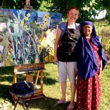 Amina Khattoon and the artist. Whole Foods Market. Erin McGee Ferrell Art.