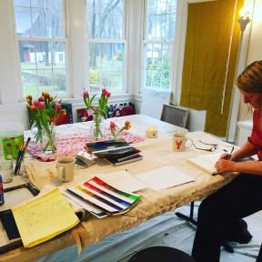 Erin McGee Ferrell Art studio