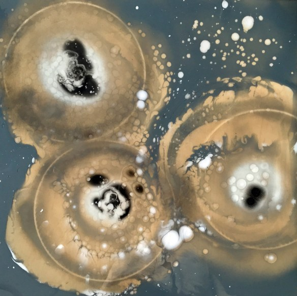 Petri Dish Series: Sneeze  Microbiology Art for Research