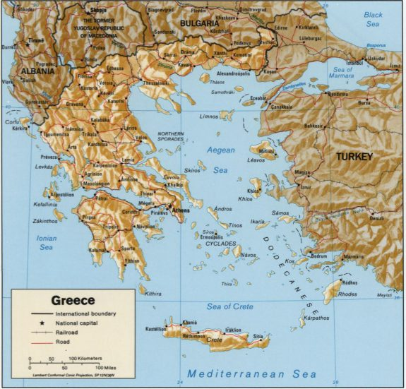 Greece Map Ancient Pindus