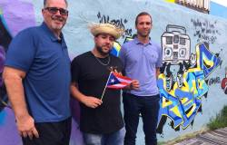 """Graffiti artist Christian """"TameArts"""" Rodriguez and the crew at Sunflower Philly cordially invite you to dive into all things Latino culture – for a great cause, courtesy of this event, which proceeds benefit those still struggling from the effects of Hurricane Maria.   Image: Kerith Gabriel"""