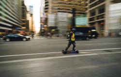 Man zooms by in Center City