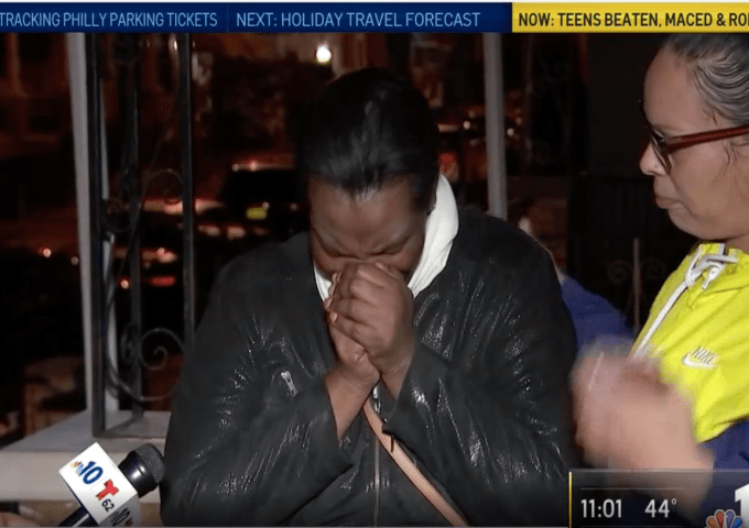 Woman cries over senseless beatings in Philly