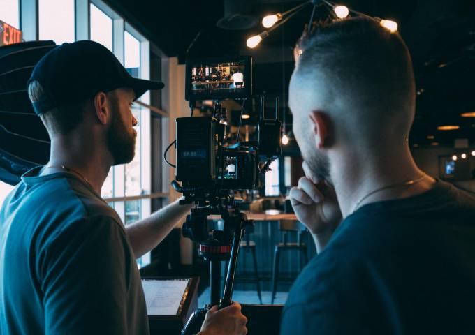 Directors filming a scene