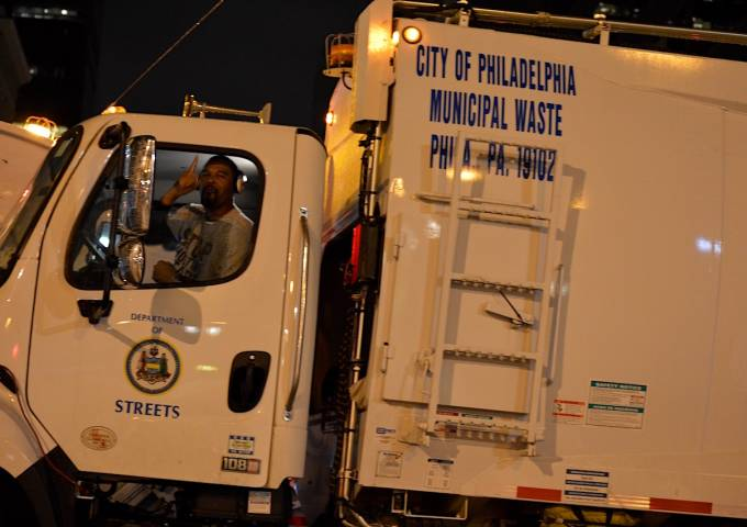 Philadelphia Sanitation worker