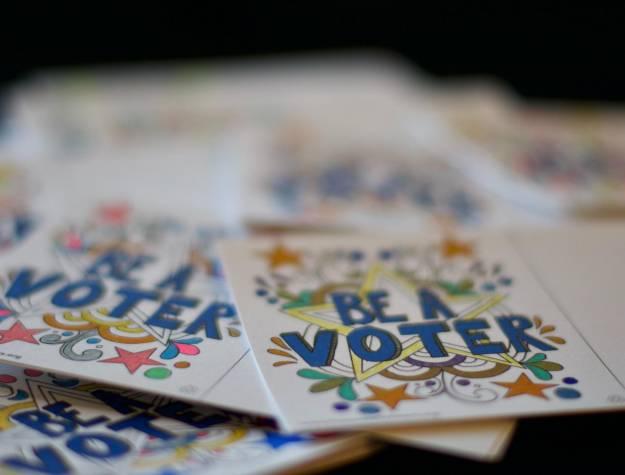 Voting stickers