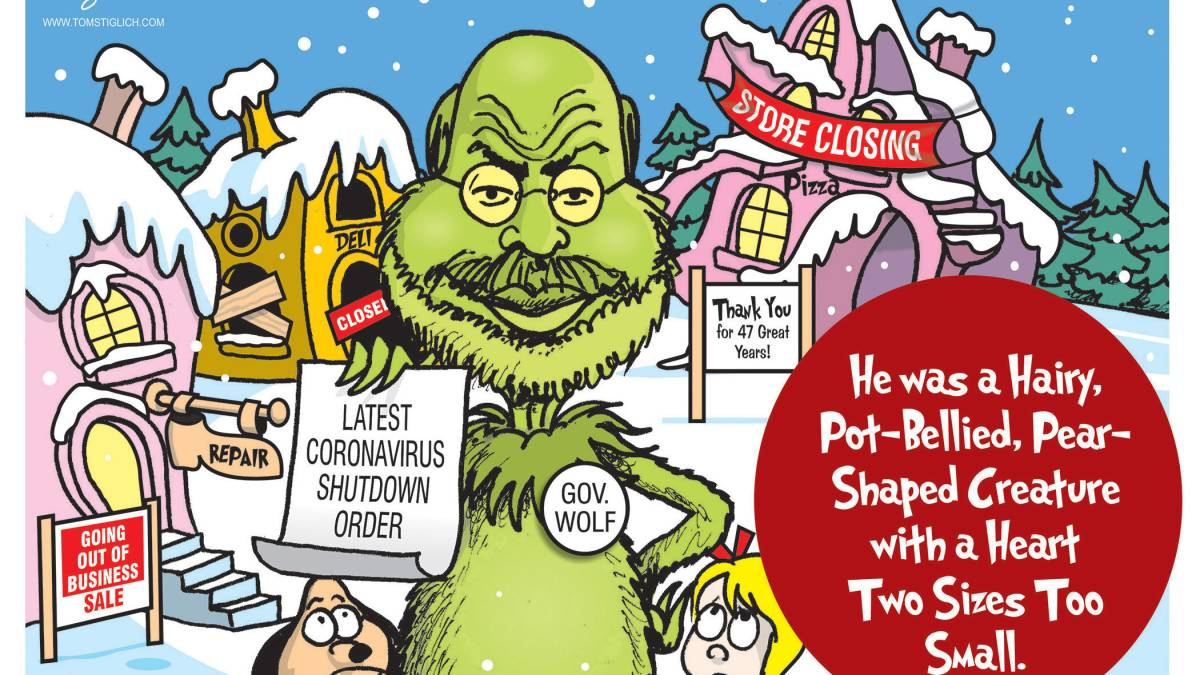 Tom Wolf as the Grinch