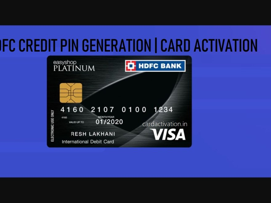 HDFC Credit Card PIN Generation Online