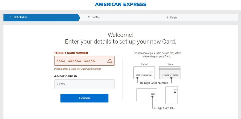 amex card activation