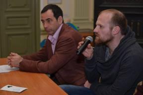 Роман Авдеев и Алексей Шамраев на премьере фильма «Мария»