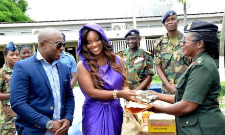 Jackie Appiah donates to Accra flood and fire disaster victims