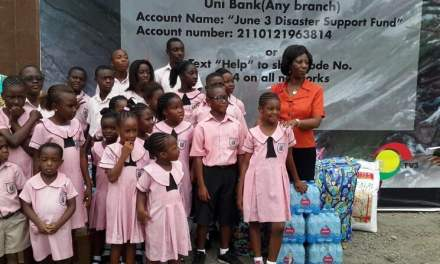 North Legon Little Campus school kids donate to TV3 Disaster Fund