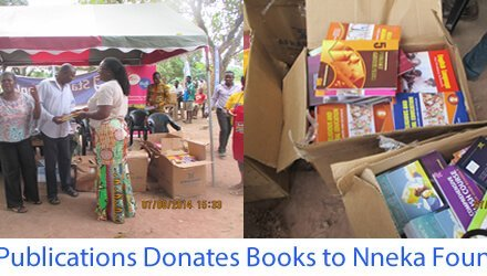 Afram Publications gives books to Nneka Youth Foundation at Ve-Gbodome