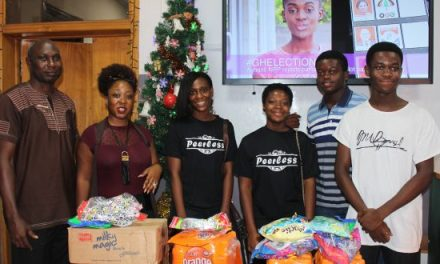 Tema Parents' JHS students give to 'Help a Christmas Child'