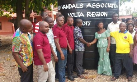 OVA Volta gives water tank to Vocational Institute
