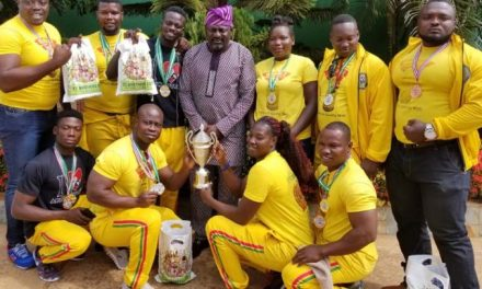 TT Brothers gives to Ghana Armwrestling Federation