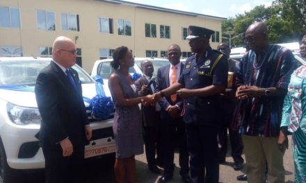 US Govt, IOM gives vehicles to Police human trafficking unit
