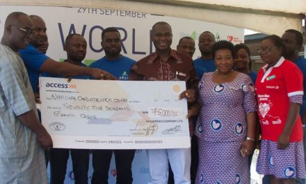 Awake Water gives GH¢75,000 to Korle-Bu Cardio