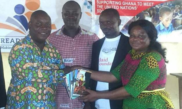 Rotary Club Accra Labone gives 3000 readers to schools