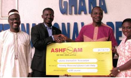 Ash-Foam gives in support of GJA Awards 2017