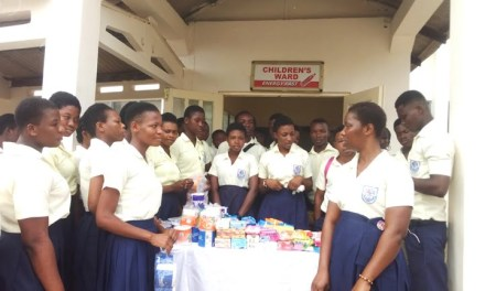 Power College students give to kids at Ho Municipal Hospital