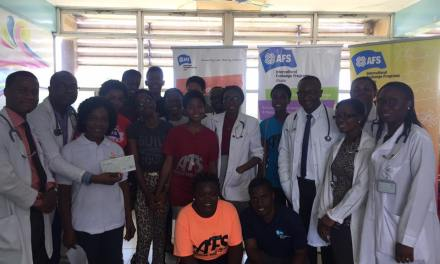 AFS Club of Achimota School gives to Child Cancer Unit