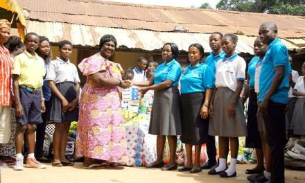 Falsyd Sch donates to Christ Faith and Potter's Village