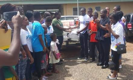 PIWC Youth Ministry gives to Volta Regional Hospital