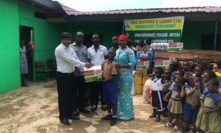 ASA Savings and Loans donates to Apam Orphanage