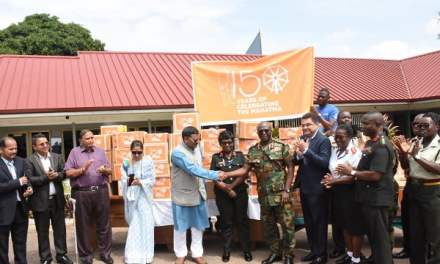 Indian High Commission gives to 37 Military Hospital