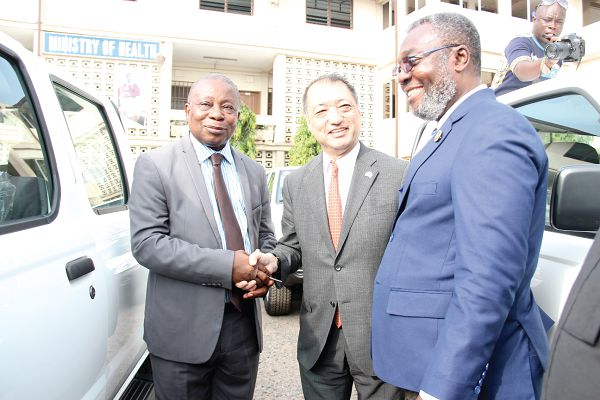 Govt of Japan gives vehicles and equipment to MoH