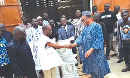 ECOWAS supports free SHS with 2,750 tonnes of cereals