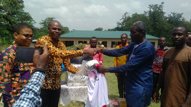 GTDC gives supplies to Assin Manso Basic Schools