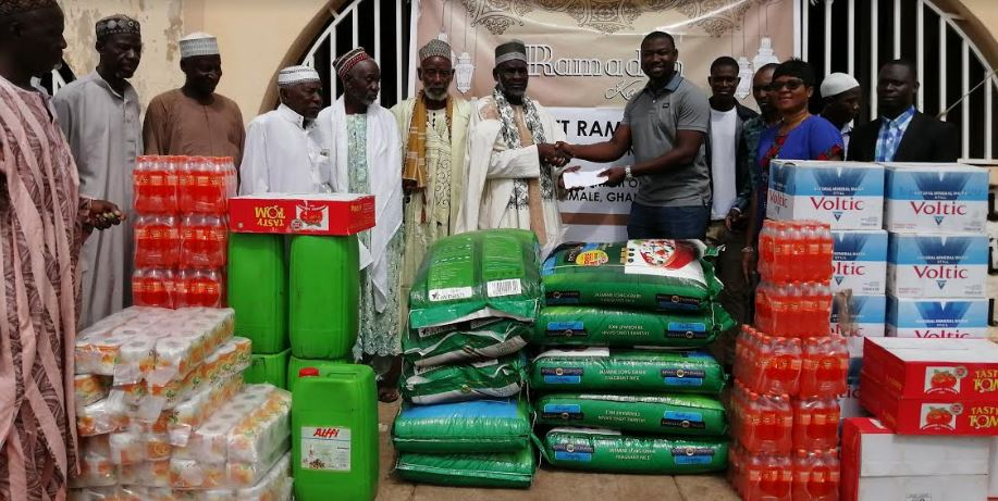 QNET gives food to NR Chief Imam for low-income Muslims
