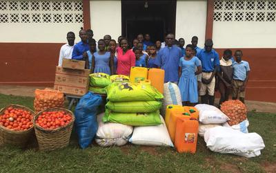 ADK gives food supplies to Akropong School for the Blind