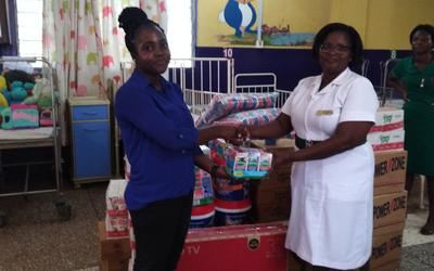 ADK gives to Children's Ward of Tema General Hospital
