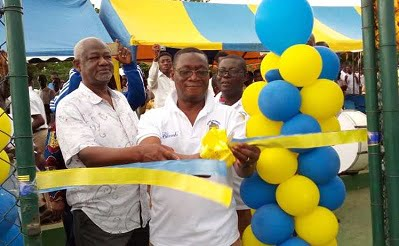 Accra Aca 82 builds tennis, basketball court for school